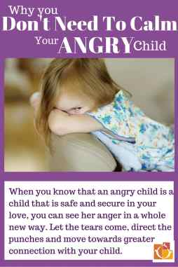 Don't need to calm children's anger