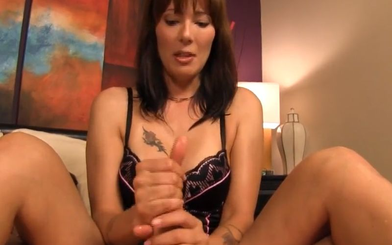 "A handjob on Mother's Day, hot busty milf says ""Thank You"""
