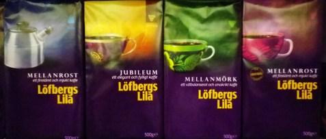 Kaffee von Löfbergs Lila