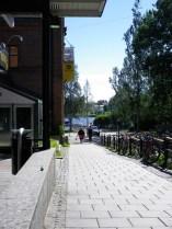 Blick vom Kino zum Umealven - Kino in Umea
