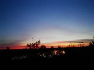 Abendstimmung am Balkon - Umea