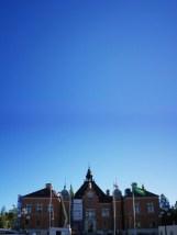 Herbst über dem Rathaus - Umeå