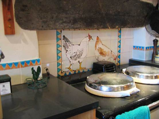 chicken kitchen tile panel