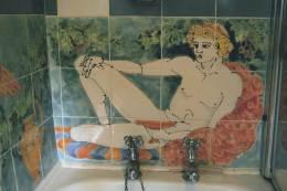 classical figure bathroom tiles splashback