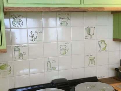 dairy bygones bespoke kitchen tiles