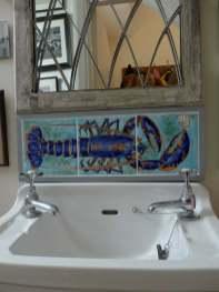 lobster wash basin splash back tiles