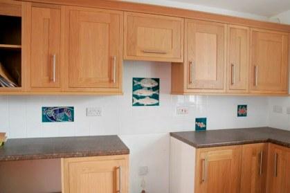Kitchen handmade fish tiles