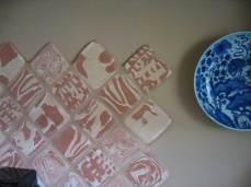 Agateware Aga tiles.