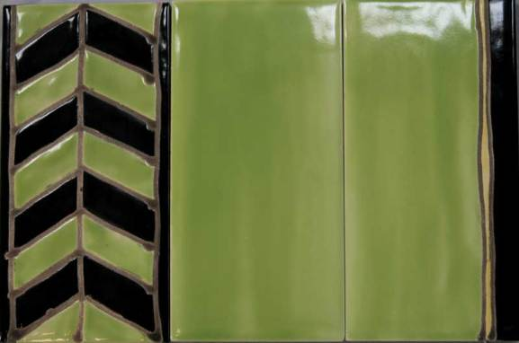 'Deco' tiles chevron border.