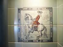 Dressage horses- kitchen tiles