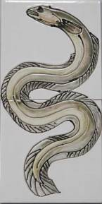 Eel handmade tiles