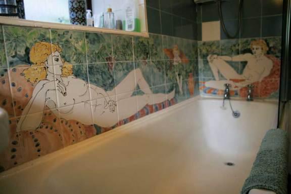 Mythological bath tiles