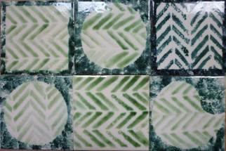 Sponge print tiles-oxides