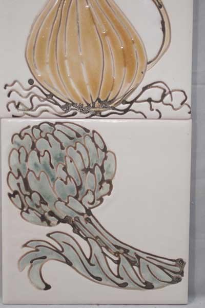 vegetables kitchen tiles