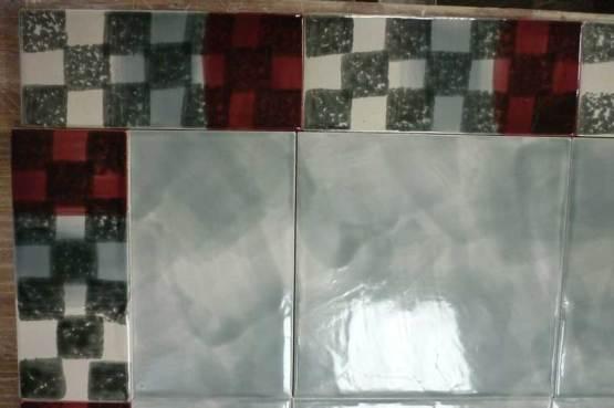 border tile chequer, sponge-print