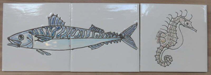 mackerel + seahorse tiles