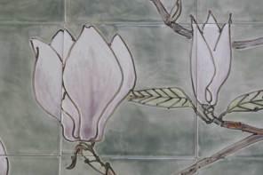 magnolia hob tiles- detail