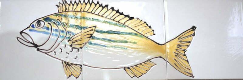 tropical fish handmade tiles