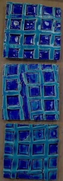 'turquoise net' handmade tiles
