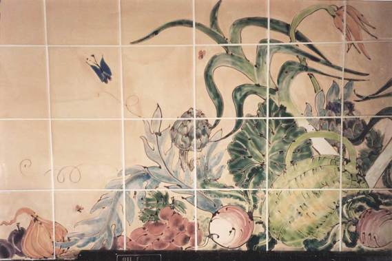 vegtables aga tile panel