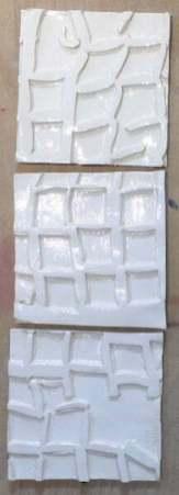 'white net' handmade tiles