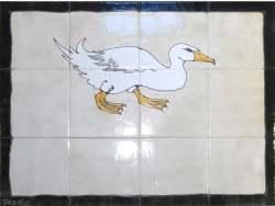 duck tile splashback