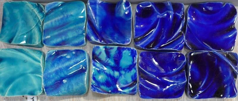 turquoise + blue handmade tiles