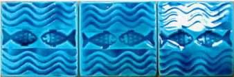Handmade clay tiles- fish