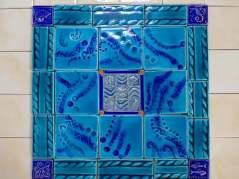 sea themed handmade tile mosaic