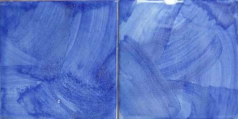 blue tiles handbrushed