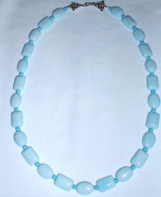 Handmade Beaded Light Blue Beaded Gemstone