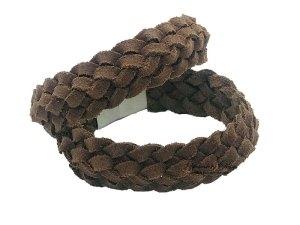 Licht bruin gevlochten armband