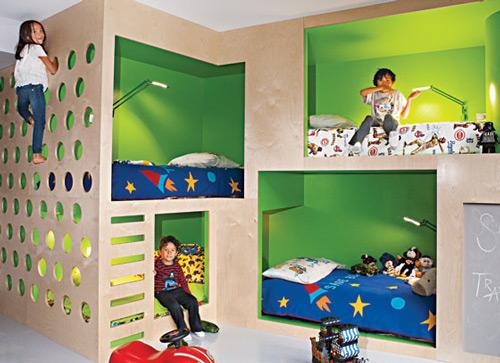 bohemian apartment bunk beds