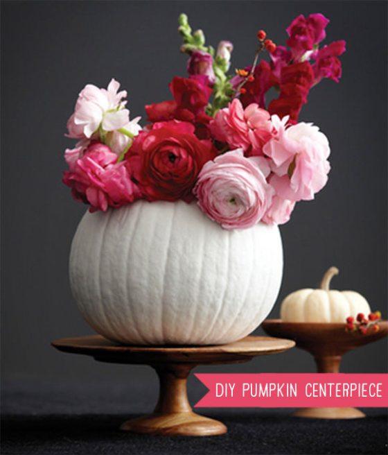 pumpkin centerpiece vase- Handmade Charlotte