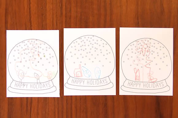 DIY Printable Snow Globe Card Handmade Charlotte