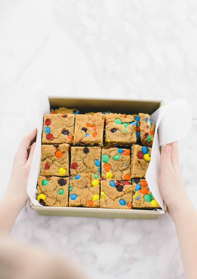 M&M Blondies Recipe (for a crowd)
