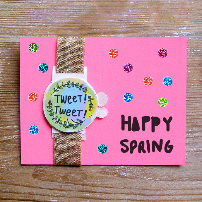 DIY Greeting Card Watches for Spring