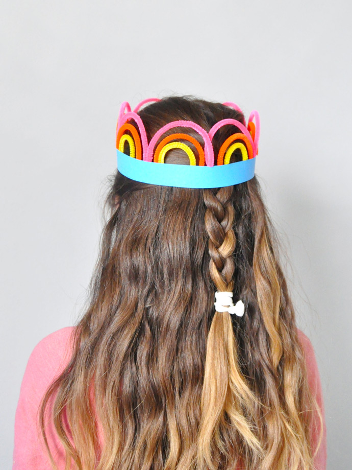 St Patrick's Day Rainbow Crowns