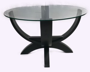 Glass top contemporary coffee table
