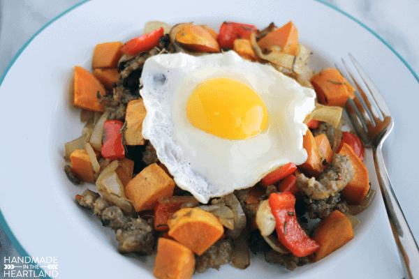 Sweet Potato & Sausage Breakfast Hash