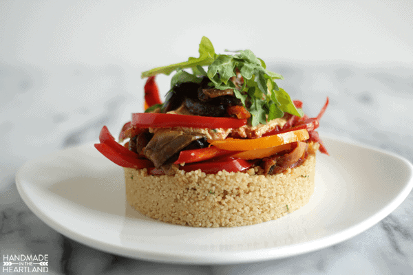Sun-dried Tomato, Mushroom, and Bell Pepper Cous-Cous Salad