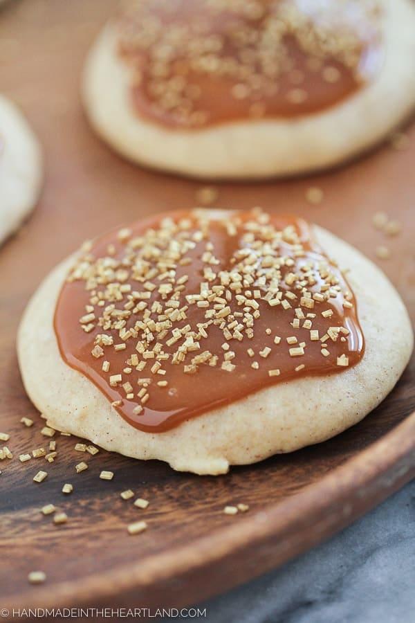Caramel Egg Nog Cookies