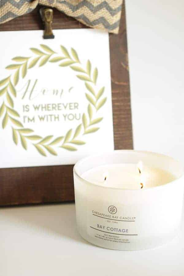 Home Decor Print & Beautiful Candles