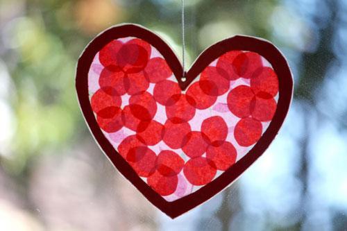 Kids Craft Valentines Day Stained Glass Hearts Handmade KidsHandmade Kids