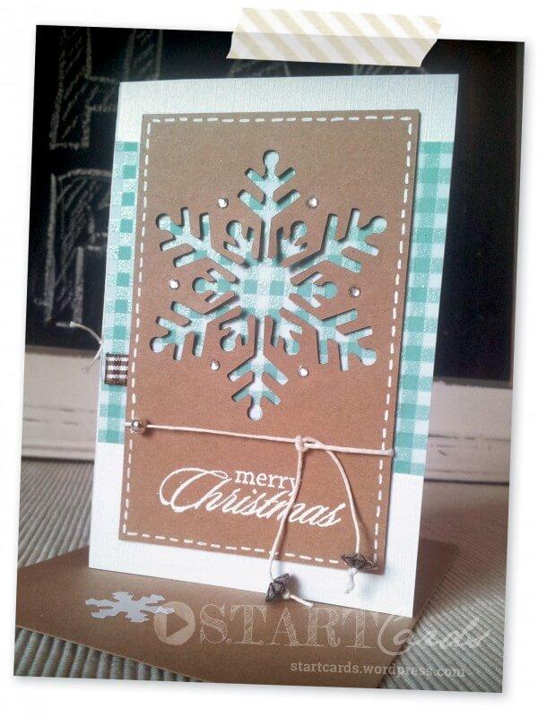 Weihnachtskarte Schneeflocke HANDMADE Kultur