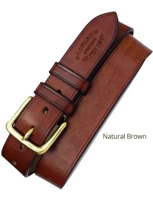 "1½"" Bridle Handmade Leather Belt"