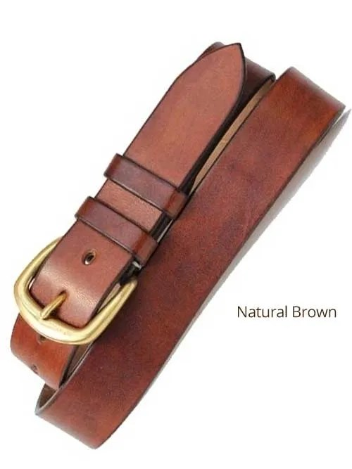 "1½"" Classic Handmade Leather Belt"