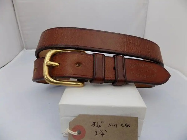 "34"" Bridle, Natural Brown, 1 ¼"" wide, Brass West End buckle"