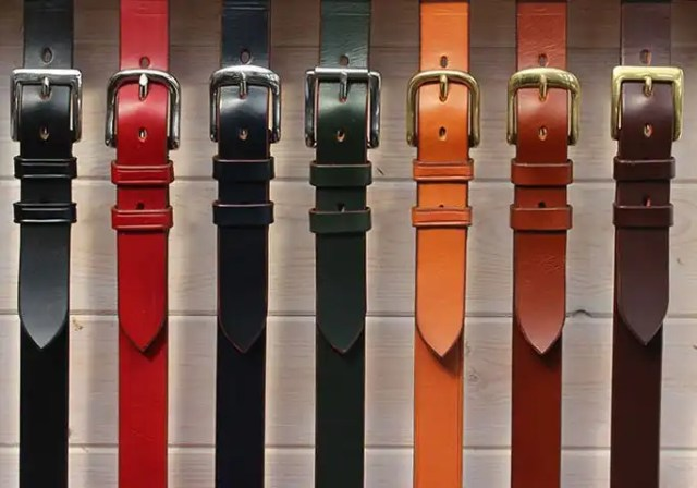 See below from left to right - Black, Red, Navy (Dark Navy Blue), Green (British Racing Green), Light Havana, Conker, Australian Nut