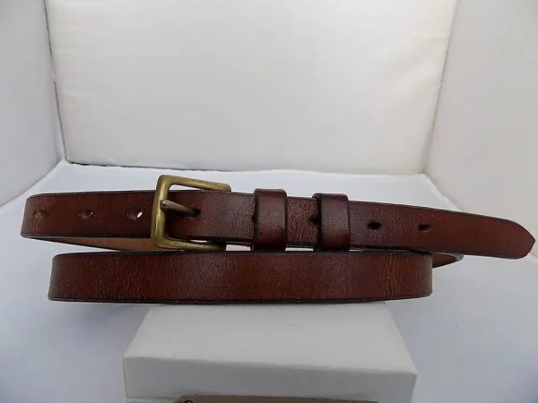 "35"" – 37"" with 9 holes, Classic, Natural Brown, ¾"" wide, Brass West End buckle"